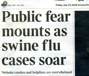 Headline in The Times 24 July 09